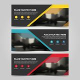 Corporate business banner template, horizontal advertising business banner layout template flat design set ,. Clean abstract cover header background for website Stock Photography
