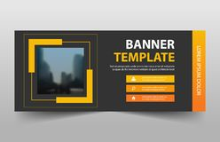Corporate business banner template, horizontal advertising business banner layout template sign set , clean abstract cover header vector illustration