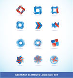 Corporate business blue red logo elements set Royalty Free Stock Photo