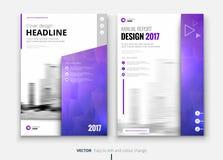 Corporate business brochure or flyer design. Leaflet presentation. Stock Photography