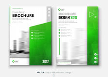 Corporate business brochure or flyer design. Leaflet presentation. Stock Photos