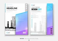 Corporate business brochure or flyer design. Leaflet presentation. Stock Image