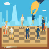 Corporate business chess Stock Images
