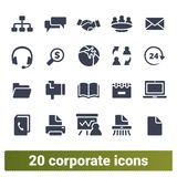 Corporate, Business Communication And Office Icons vector illustration
