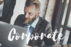 Corporate Business Company Organization Management Concept royalty free stock photography