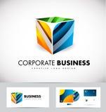 Corporate business 3d cube logo icon design. Corporate business 3d cube vector logo icon design template Stock Photo