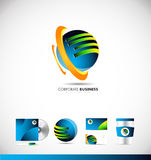 Corporate business 3d sphere logo icon design. Corporate business 3d sphere vector logo icon sign design template corporate identity Royalty Free Stock Images