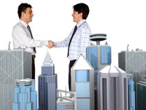 Corporate business deal Stock Images