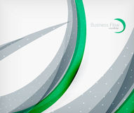 Corporate business flowing lines Royalty Free Stock Images