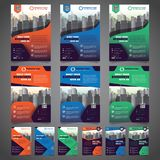 Corporate Business Flyer Design Template with 3 Various Options. Vector Illustration.  royalty free illustration