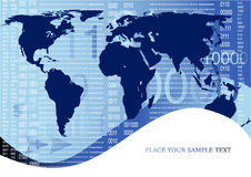 Corporate business globe background Royalty Free Stock Images