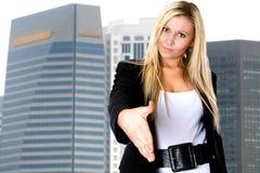 Corporate business handshake Stock Photo
