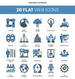 Corporate Business Icons Royalty Free Stock Images