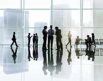 Corporate Business Meeting in a Building.  Royalty Free Stock Photos