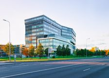 Corporate business office and street on background. Corporate business office and the street on the background royalty free stock image