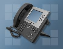 Corporate Business Phone. A photo of a high-tech business phone Stock Image