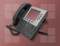Corporate Business Phone. A photo of a high-tech business phone Stock Photos