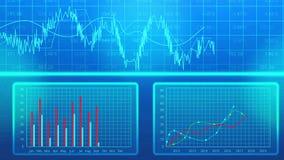 Corporate business plan presentation, bar chart showing company statistics stock illustration
