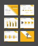 Corporate business presentation template set.powerpoint template design backgrounds Royalty Free Stock Images