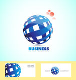 Corporate business sphere logo 3d Stock Photo