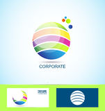 Corporate business sphere logo Stock Photography