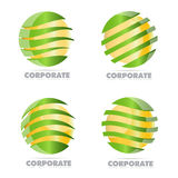 Corporate business sphere logo Royalty Free Stock Photo