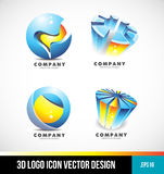 Corporate business sphere pie chart 3d logo Stock Image
