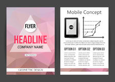 Corporate business stationery brochure template Stock Photography