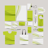 Corporate business style, abstract design green Stock Photos