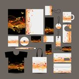 Corporate business style design: folder, bag, labe Royalty Free Stock Photography