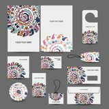 Corporate business style design: folder, labels, Royalty Free Stock Photo