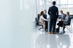 Free Corporate Business Team And Manager In A Meeting, Close Up Stock Photos - 131960943