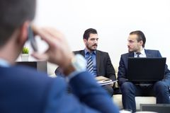 Corporate business team and manager at business meeting. Royalty Free Stock Images