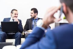 Corporate business team and manager at business meeting. Stock Images
