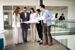 Corporate business team and manager in a meeting. Corporate business team and manager in a modern meeting room stock image