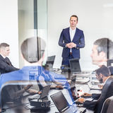 Corporate business team office meeting. Royalty Free Stock Photos