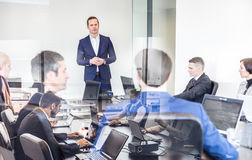 Corporate business team office meeting. Royalty Free Stock Image