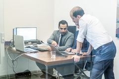 Corporate business team working in modern office. Stock Images