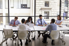 Corporate business team working in a modern open plan office royalty free stock photo