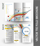 Corporate Business Tri-Fold Brochure Royalty Free Stock Images
