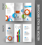 Corporate Business Tri-Fold Brochure Stock Photo