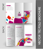 Corporate Business Tri-Fold Brochure Stock Photography