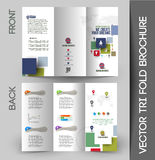 Corporate Business Tri-Fold Brochure Royalty Free Stock Image