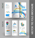 Corporate Business Tri-Fold Brochure Stock Image