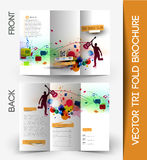 Corporate Business Tri-Fold Brochure Stock Photos