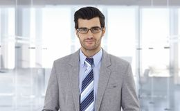 Corporate businessman at office Stock Photography