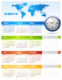 2014 Corporate Calendar. Clean vector vector illustration
