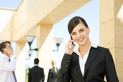 Corporate calling Stock Images