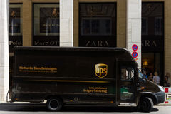 Corporate car United Parcel Service (UPS) Stock Photography