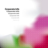Corporate card. Stock Photo